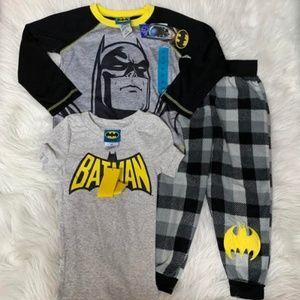 NWT Boys' Batman Classic Logo 3-Piece Pajama Set